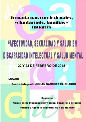 """Jornada sobre """"Afectividad, sexualidad y salud en discapacidad intelectual y salud mental"""" en Salamanca"""