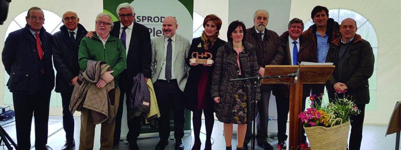 Foto de familia en Premios Cermi.es a Asprodes Salamanca