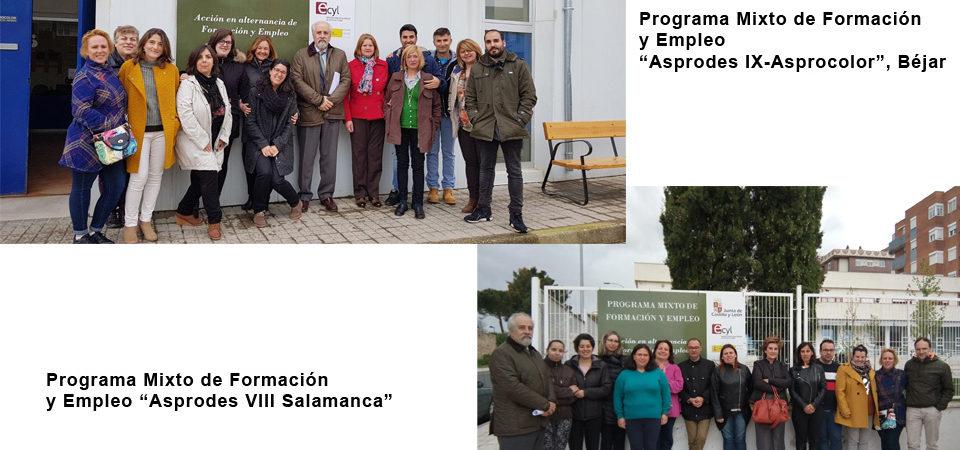 """El gerente del ECYL, Pedro Grijalba, clausura el Programa Mixto de Formación y Empleo """"Asprodes IX-Asprocolor""""  y """"Asprodes VIII-Salamanca"""""""