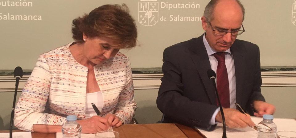 Firmado el Convenio de colaboración entre la Diputación y Asprodes para el mantenimiento de los Centros Ocupacionales